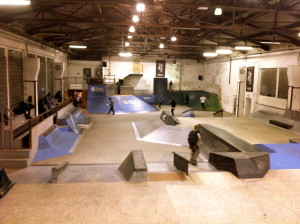 On of SkateHalle's indoor skateparks