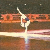 Performing under the spot light at 1977 world championship