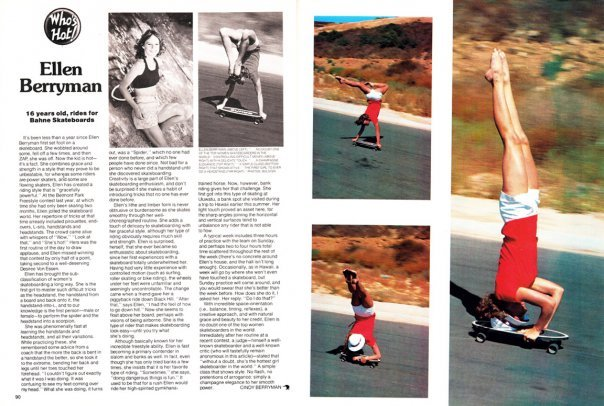 Who's Hot article in skateboarder magazine.