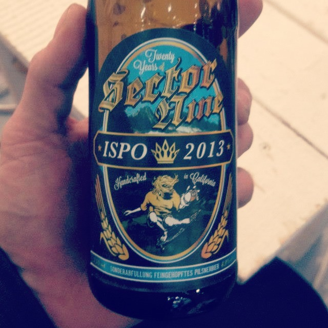 Ispo 2013 Sector 9 special edition beer
