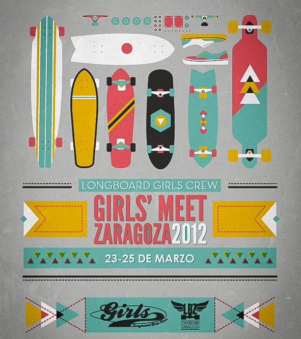2012 Zaragoza Girl's Meet poster