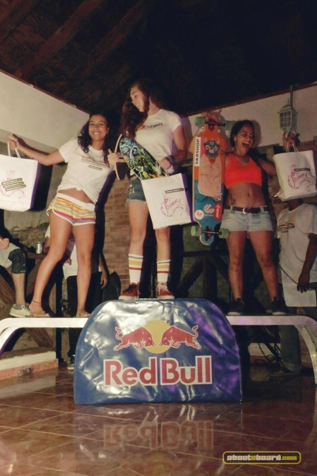 molly lewis maria vicente and me in the podium at the jacagua extreme downhill slidejam in RD wich i took second place photo byaboutaboard