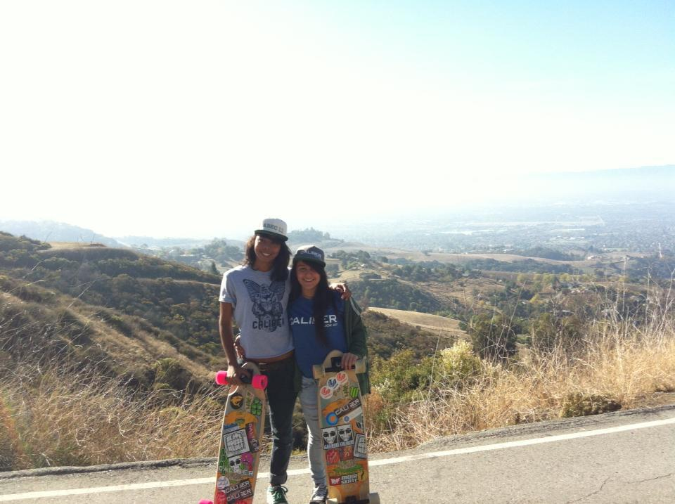 pam and me on our skate trip to california on november