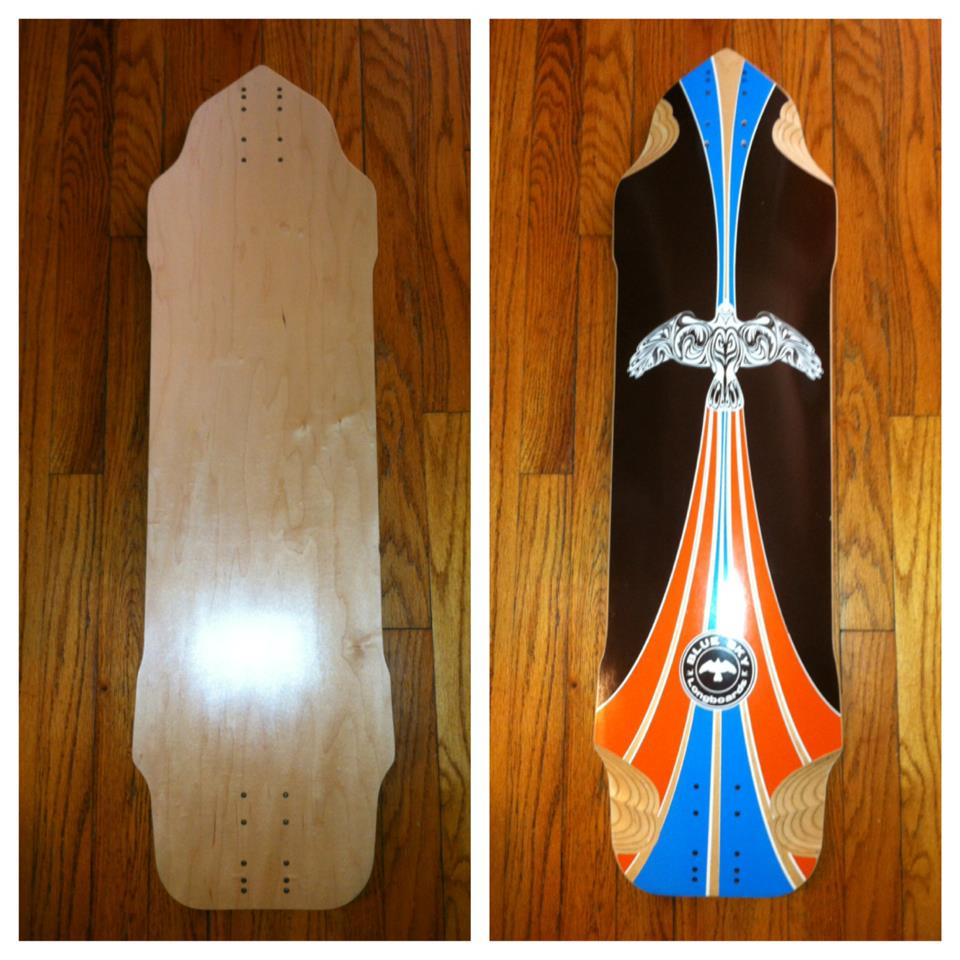 Blue Sky Longboard's Contrail downhill board