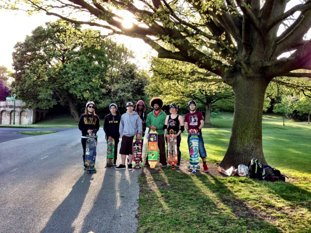 London, Longboard, Crystal Palace