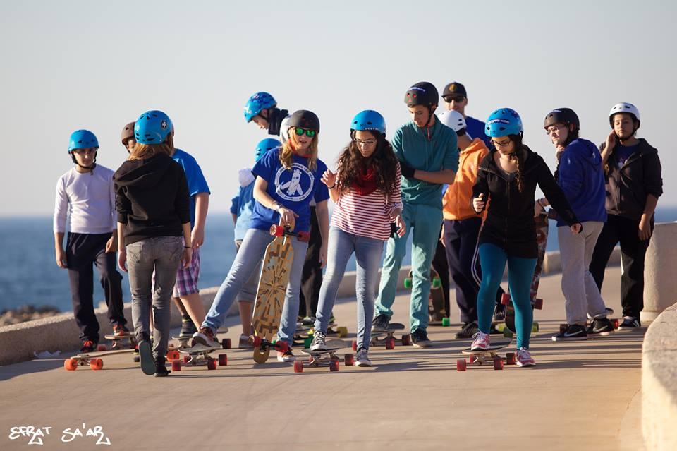 Longboarding for peace, longboard girls crew, israel, longboard girls crew israel, peace