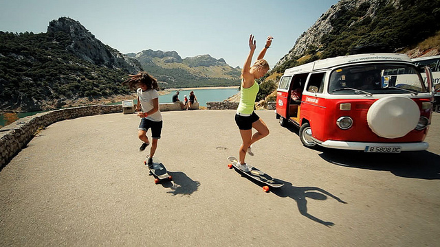 Endless Roads, Juan Rayos, trip, longboard girls crew, longboard, skate, VW, cool, friendship, skate, longboard girls
