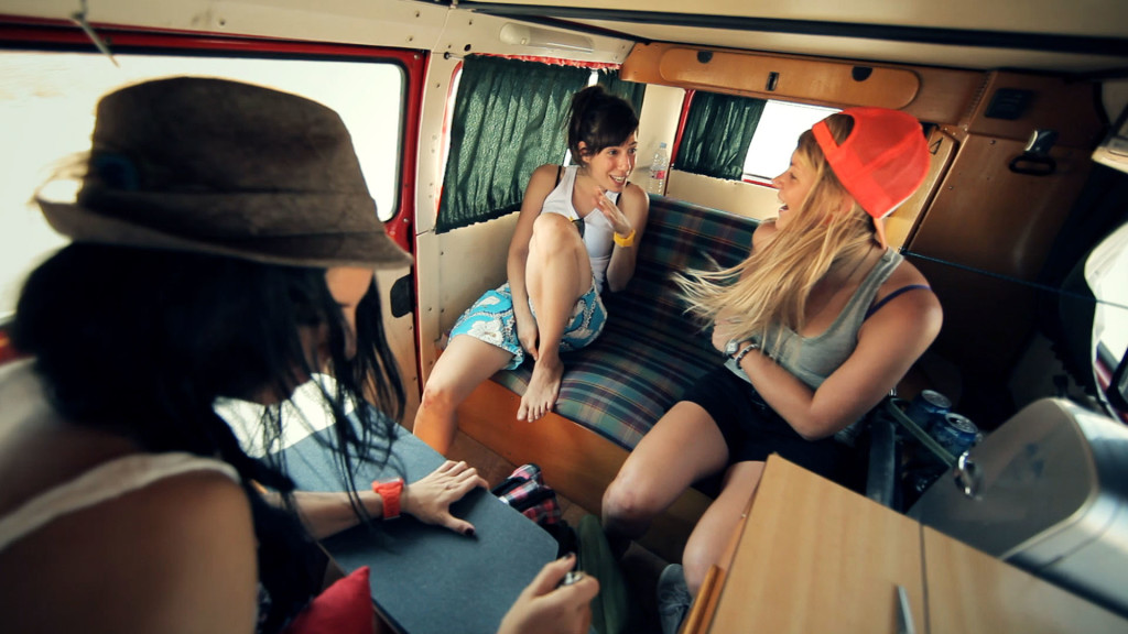 Endless Roads, Longboard Girls Crew, Juan Rayos, trip, VW, cool, friendship, longboard, skate, girls, Valeria Kechichian, Amanda Powell
