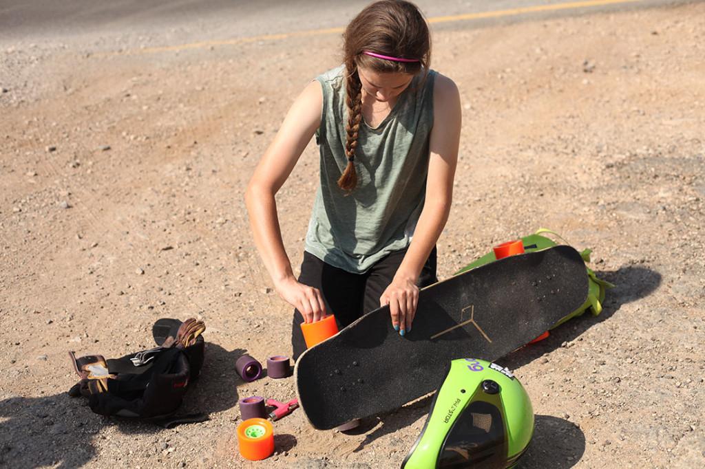 Open, longboard girls crew, Israel, Cindy Zhou, Micaela Wilson, Cami Best, longboard, girls