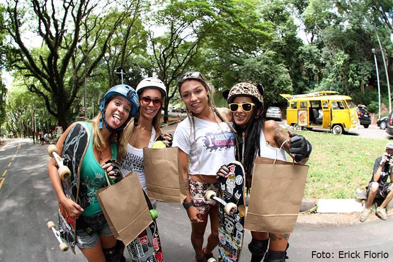 Reine Oliveira, Laura Alli, Bruna Gadini, Cris Punk, longboard girls crew, brasil, brazil
