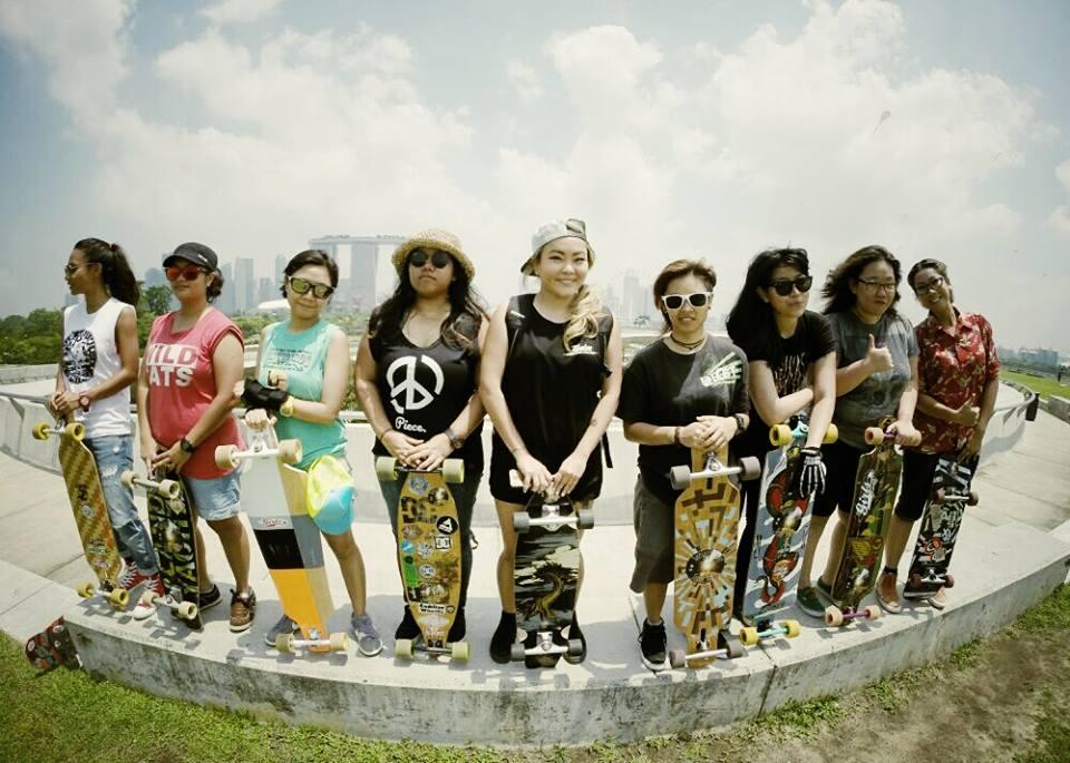 longboard girls crew singapore, longboard girls, longboard, fun