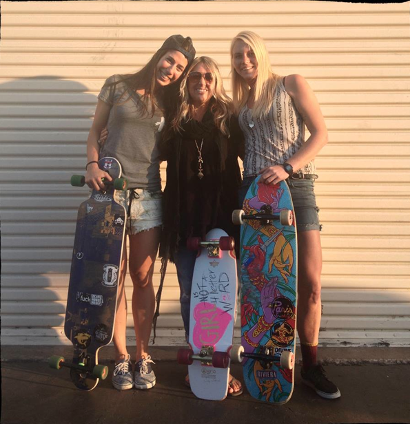 valeria kechichian, cindy whitehead, amanda powell, longboard girls crew