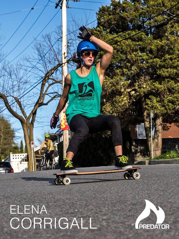 elena corrigall, longboard girls crew, canada, predator, downhill, longboard, girl