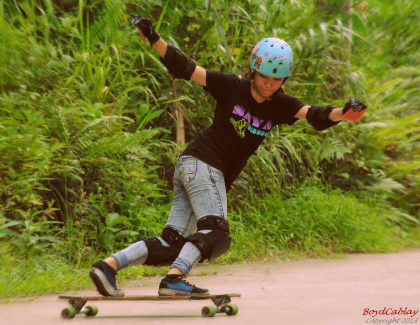 Meet Maria Fatima Estacio Salvador, Philippines, longboard girls crew, longboard, girl