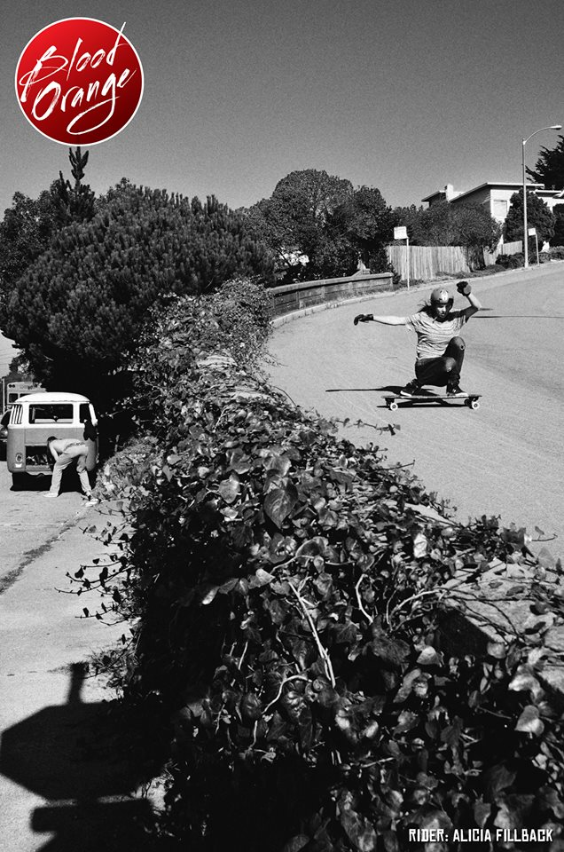 alicia fillback, longboard girls crew, blood orange