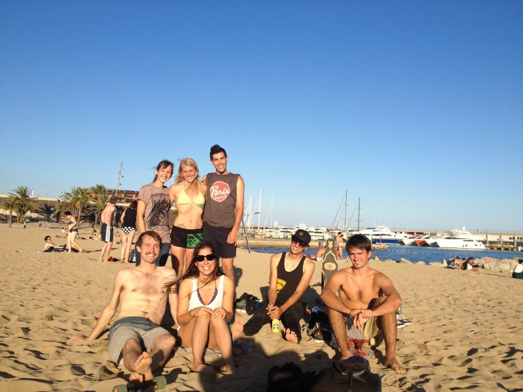 foreing exchange europe 2013, Barcelona, Paris Trucks, Longboard Girls Crew, longboard, beach, Amanda Powell, Valeria Kechichian, Brian Peck, Matt K