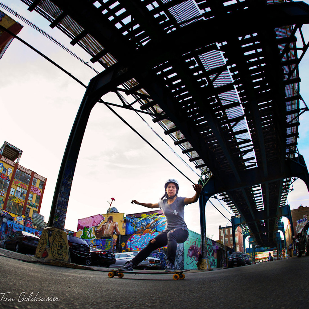Valeria Kechichian, tom goldwasser, longboard girls crew, longboard, girl, cool, rad, new york, nyc, 5pointz, brooklyn, graffiti, cool