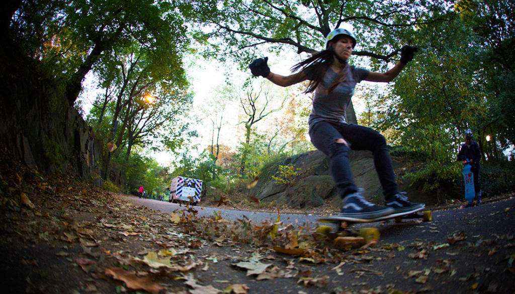 Valeria Kechichian, tom goldwasser, longboard girls crew, longboard, girl, cool, rad, new york, nyc, central park, cool