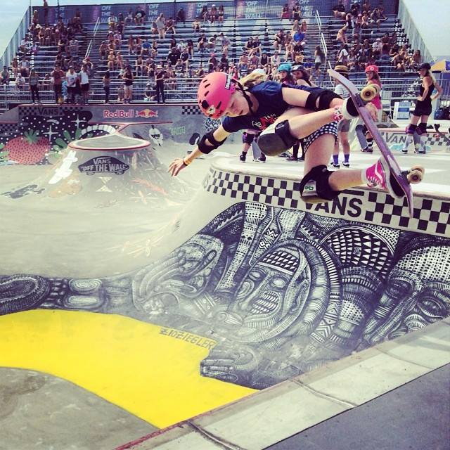 van doren invitational, bowl, skateboarding, rad, longboard girls crew, skate, vans us open, poppy olsen