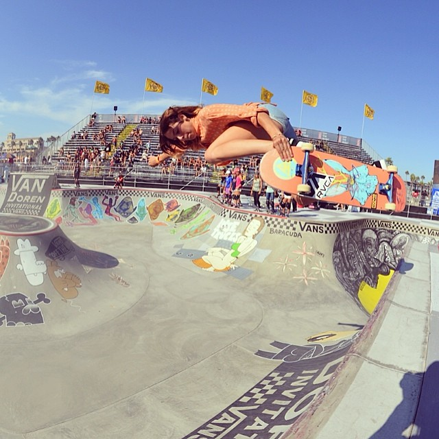 van doren invitational, bowl, skateboarding, rad, longboard girls crew, skate, vans us open, Nora Vasconcellos