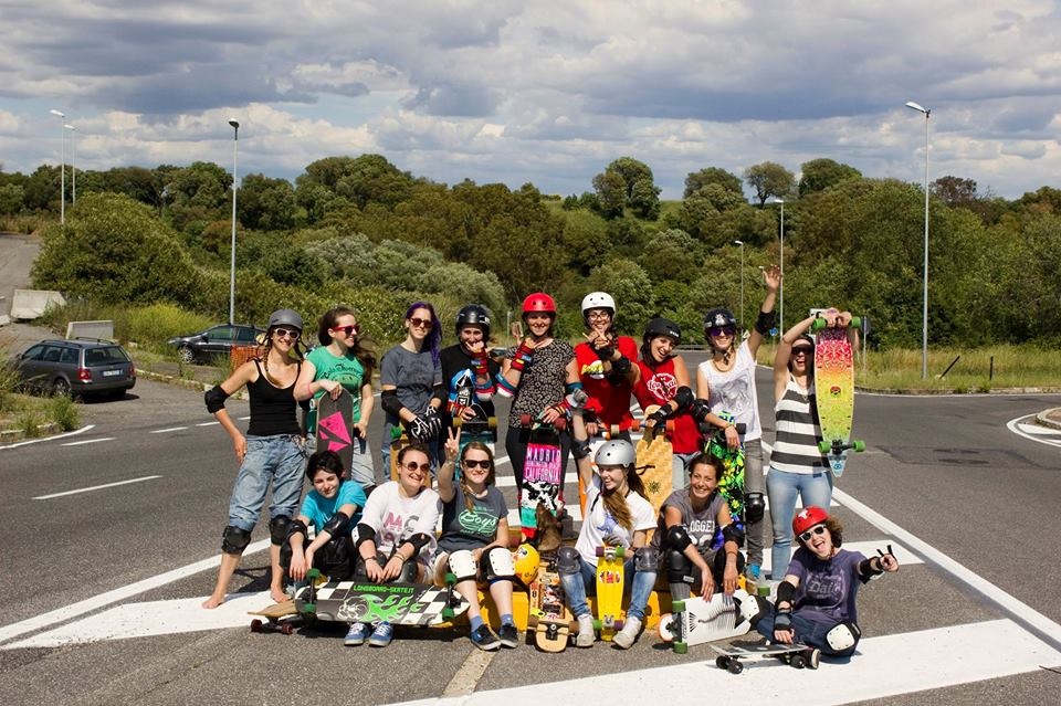 longboard girls crew Italy, Italia, longboard, Rome, friends, cool
