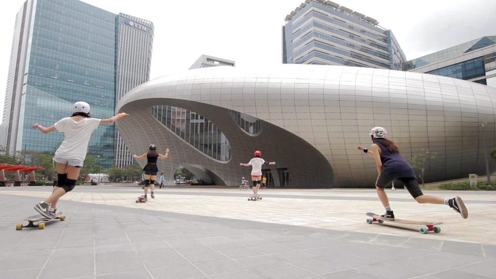 longboard girls crew korea, longboard, girls, korea, dancing, cool, friends, skate