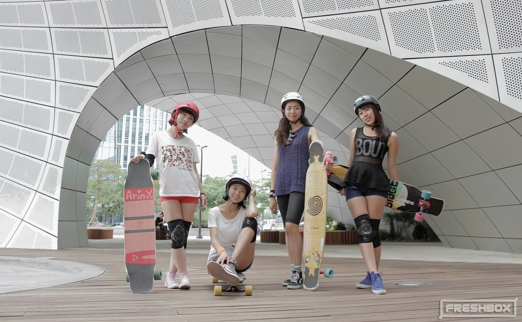 longboard girls crew korea, longboard, girls, korea, dancing, cool, friends, skate