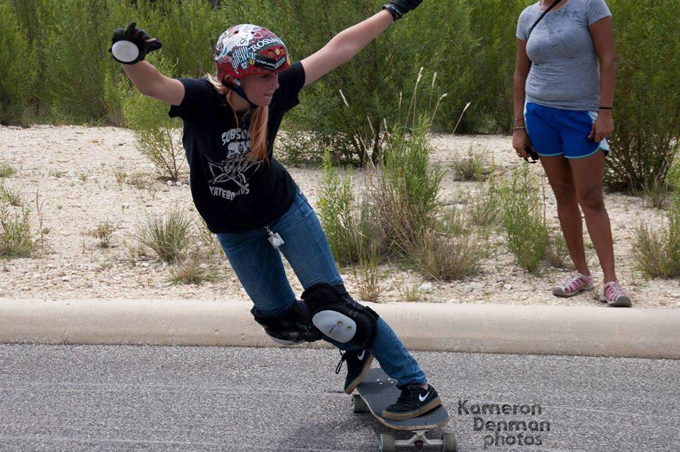 longboard girls crew, longboard, girl, skate, texas, usa, slide, skate trip, Hannah Matetzschk