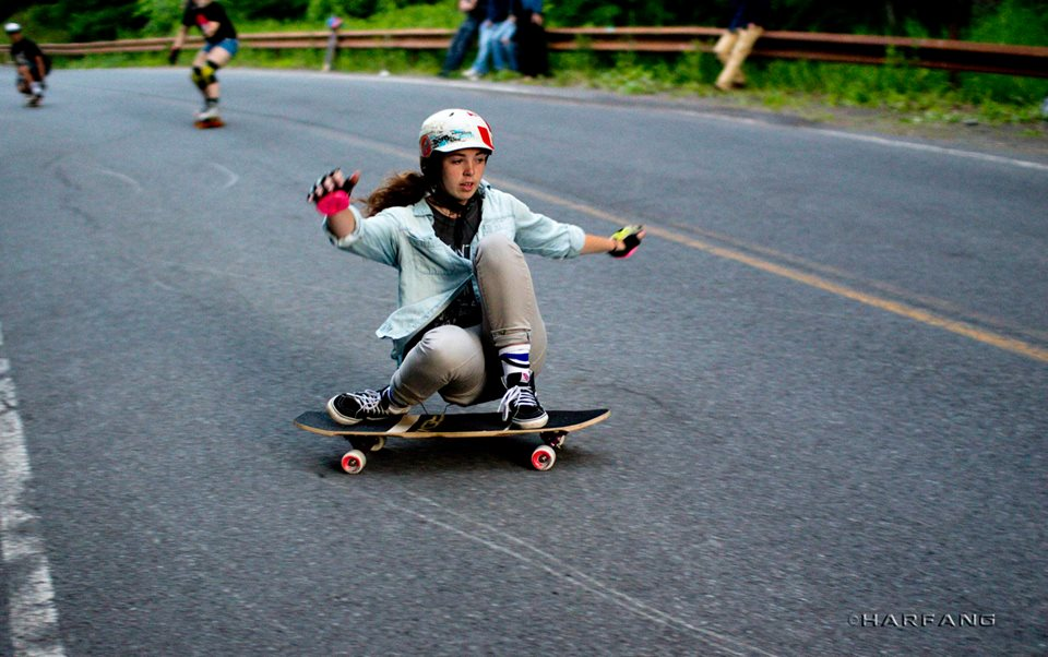 molly lewis, longboard girls crew, longboard, skate, slide, usa