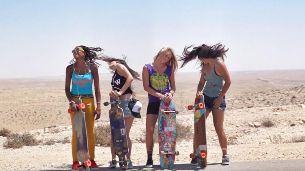 longboard girls crew, cindy zhou, israel, longboard, skate, open, lgc, lgc skates israel, cool, peace, valeria Kechichian, amanda powell, cami best
