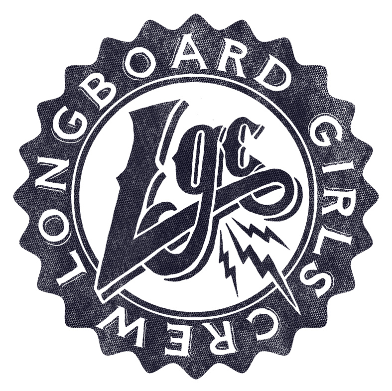 logo, longboard girls crew, longboard, longboarding, girls, skate