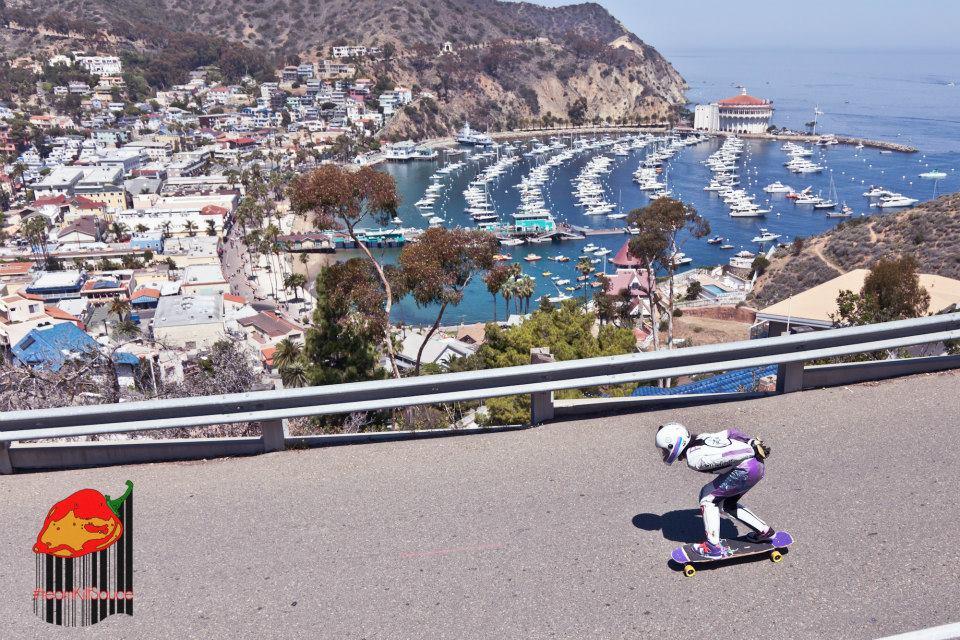 catalina island, longboarding, girls, lgc