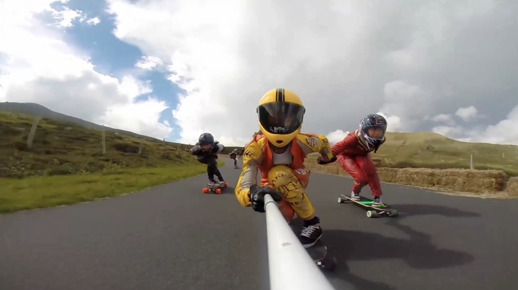 Anne Poursin, Elise Mathis, Lyde Begue, French Maryhill, longbard girls crew, france, downhill, fast, cool, friends