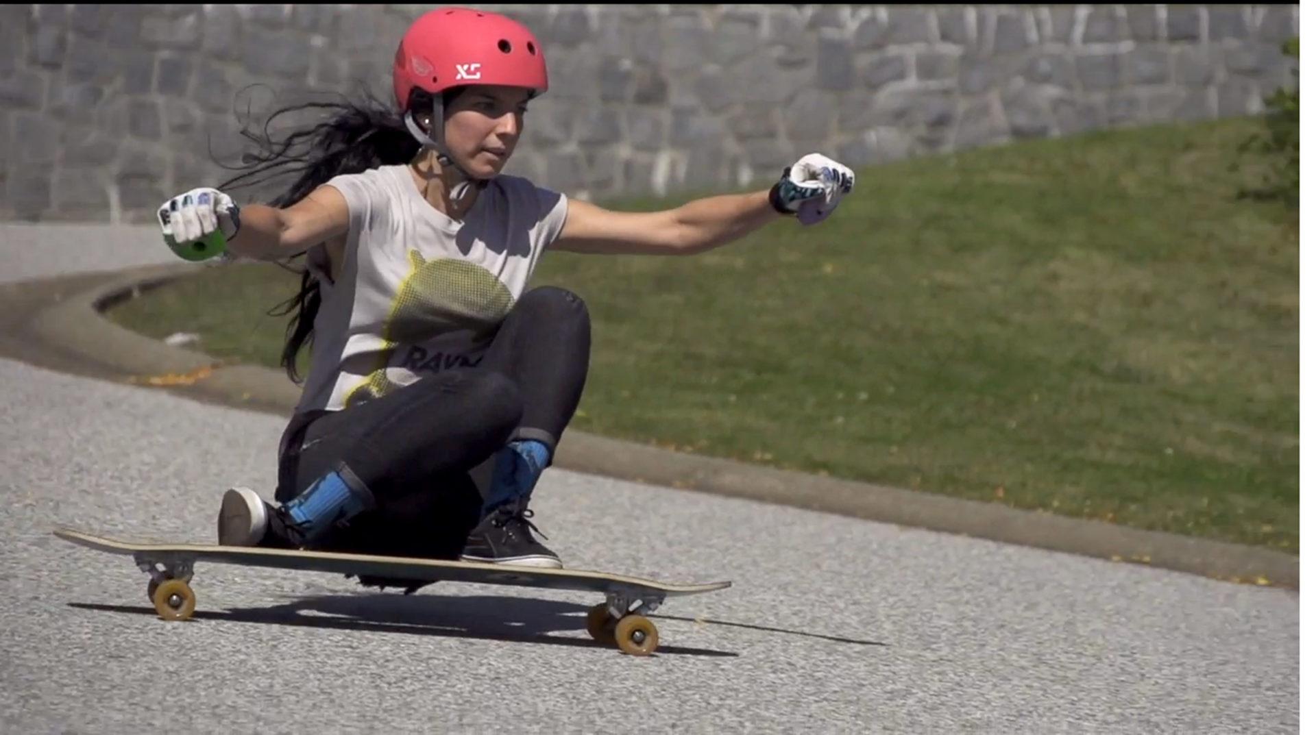 Longboard girls cre Marisa nunez Skate girl Vancouver