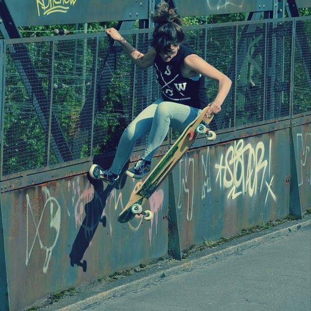 daniela schukalla, freestyle, longboard girls crew, rad, skate, cool, girl, bridge, concrete wave