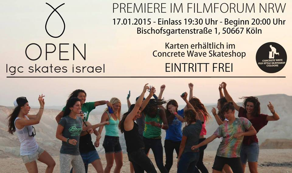 longboard girls crew, cologne, germany, open, lgc skates israel, israel, skate, community, strong women, concrete wave skateshop cologne, concrete wave, cool, movie, screening, premiere