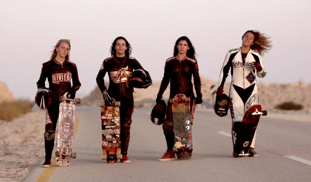 longboard girls crew, longboarding, downhill skateboarding, skate, girls, rad, cool, women power, women supporting women, amanda powell, marisa nuñez, katie neilson, ishtar backlund, daniel etura, israel, open, lgcopen, desert, boards