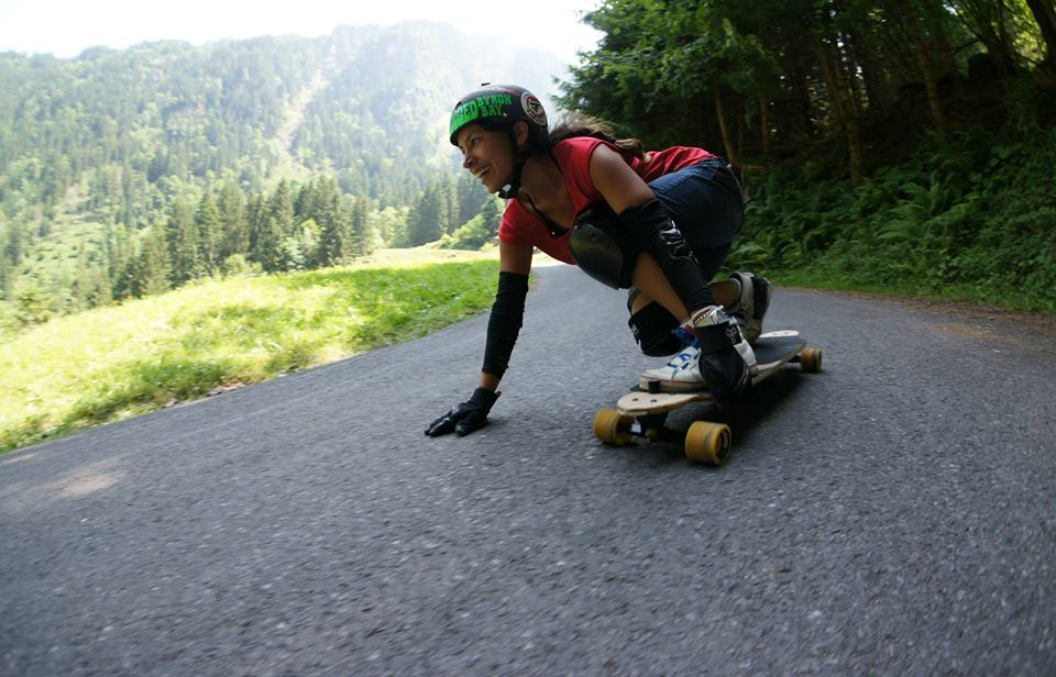 Maga Mcwhinnie, longoard girls crew, longboarding, downhill, girl, smile, fast, rad, skate