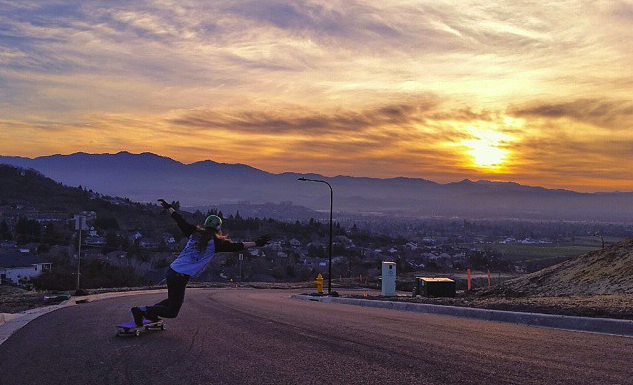 alicia fillback, longboard girls crew, longboarding, skate, rad girls, women power, sunset, cool, slide,