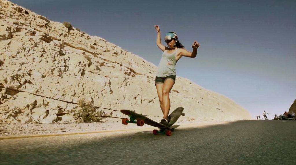 cindy zhou, longboard girls crew, longboarding, downhill skateboarding, skate, girls, rad, cool, women power, women supporting women, daniel etura, israel, open, lgcopen, desert, boards
