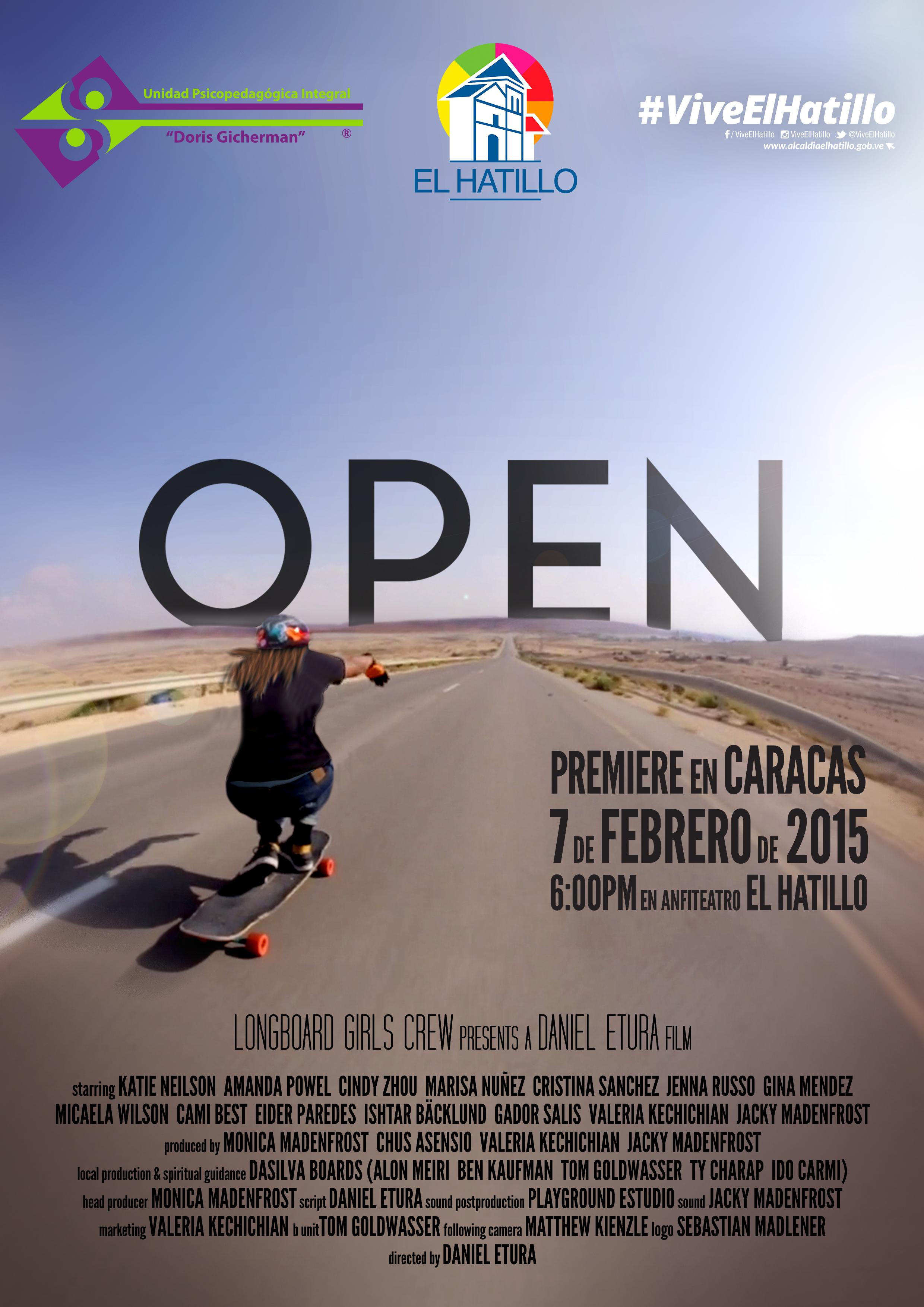 Open premiere en Caracas, longboard girls crew, longboarding