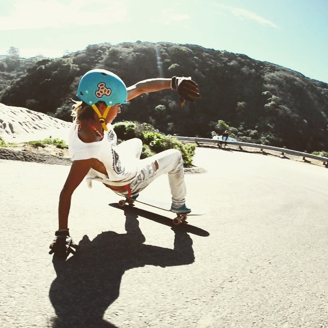 alex kubiak ho-chi, france, california, slide, longboard girls crew, longboarding, skate, rad, hill, cool, rad women, women power