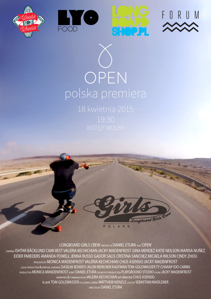 open, lgc skates israel, israel movie, longboard girls crew, skate, longboarding, skateboarding, premiere, poland, warsaw,
