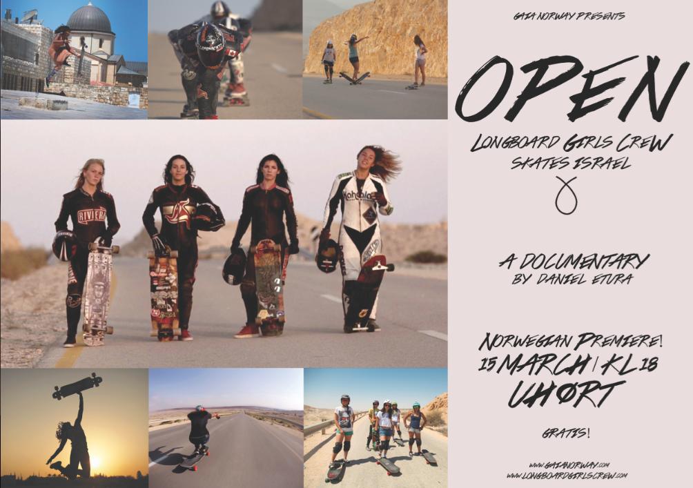 longboard girls crew, norway, open, lgc skates israel, israel, premiere, skate, longboarding, women power