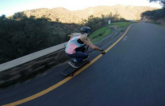 amanda panda caloia, longboard girls crew, downhill, fast, usa, california, road, cool, blonde, skate, longboarding