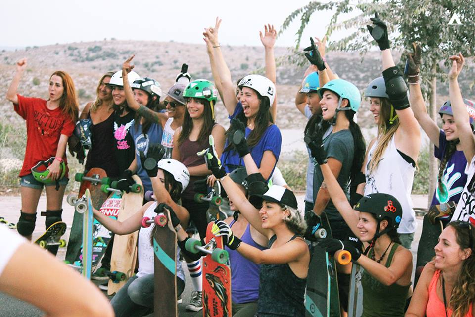 longboard girls crew, girl stoke, women power, strong women, rad women, women supporting women, skate, longboarding, open, israel