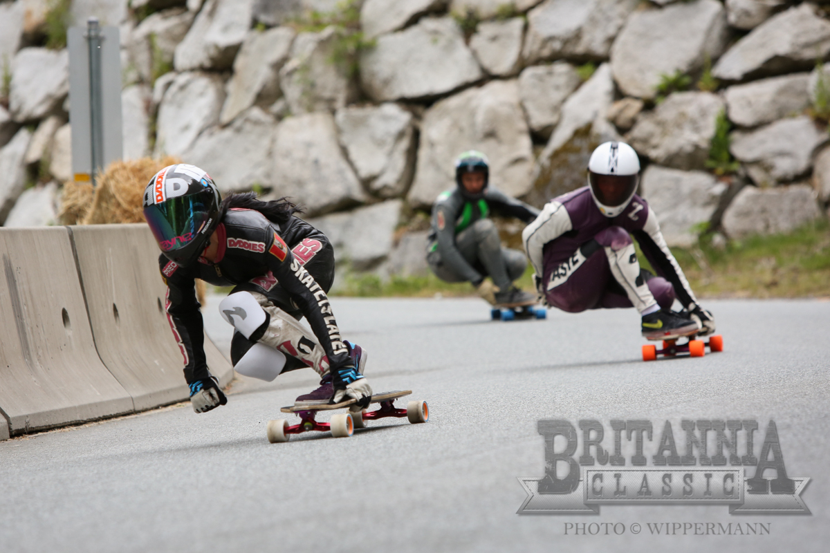 britannia classic, canada, race, downhill, longboard girls crew, longboarding, skate, skate fast, cool, event, rad, marisa nuñez