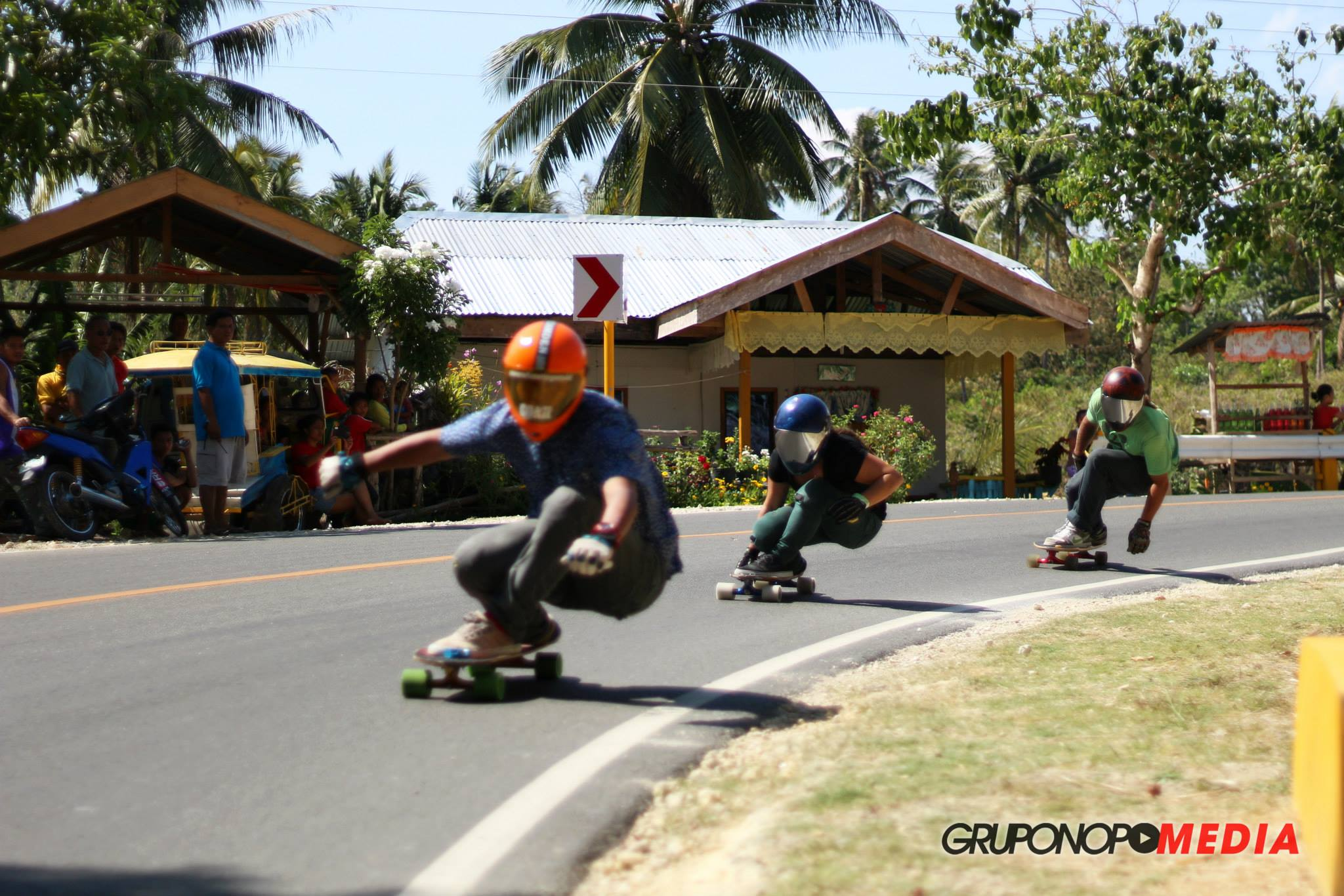 Capalanas tight race heat, longboard girls crew, lgc, skate, rad women, philippines, vlt, visayan longboard trilogy, south east asia, rad, women supporting women, skate like a girl,