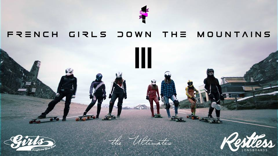 french girls down the mountain, longboard girls crew, skateboarding, longboarding, skate, women, rad, strong women, fast, downhill, cool, friends, france, alps, lizoard, skateboards, mstr pan, lyde begue, mountains, amazing