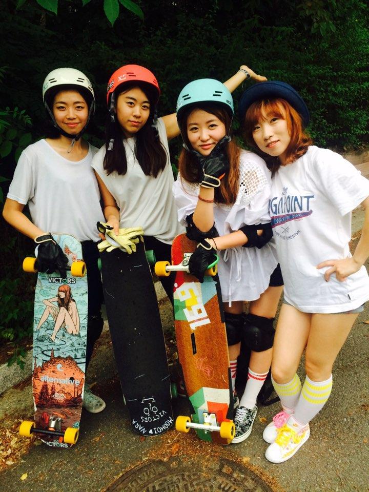 lgc korea, longboard girls crew, longboarding, asian, asia, skate, skateboarding, girls, asian girls, cool, rad, victors boardshop